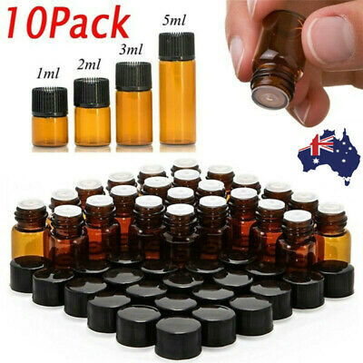 Roller Rollerball Perfume Essential Oil Roll On Ball Amber Glass Bottle au