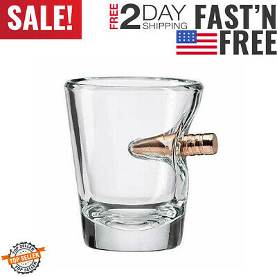 The Original BenShot Shot Glass with Real 0.308 Bullet #Bulletproof MADE in the