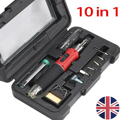 Cordless Auto Ignition Butane Gas Soldering Iron Kit Self Ignite Welding Torch