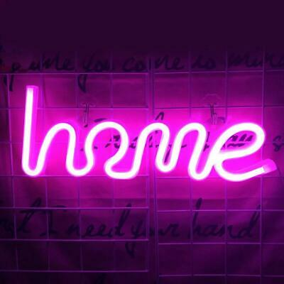 Pink Home Night Lights LED Neon Signs USB/Battery Wall For Home Decor Bedroom