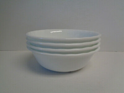 "Corelle Enhancements Set of 4 Cereal Bowls 6-1/4"" (White Swirl) 18-oz New w/Tags"
