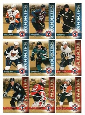 Sidney Crosby + 2010 UD Upper Deck Canada National Hockey Card Day Insert Set