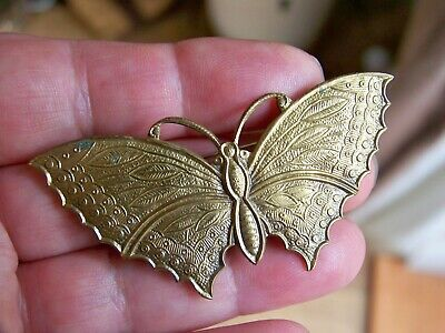 Vintage Jewelery Charming Art Deco Flying Butterfly Insect Brooch Shawl Lace Pin
