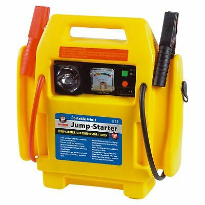Portable 4 in 1 Car Jump Starter Air Compressor Battery Start Booster Charger