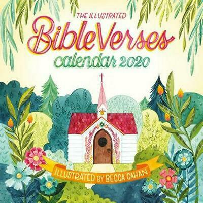 Illustrated Bible Verses Wall Calendar 2020 by Workman Publishing Free Shipping!