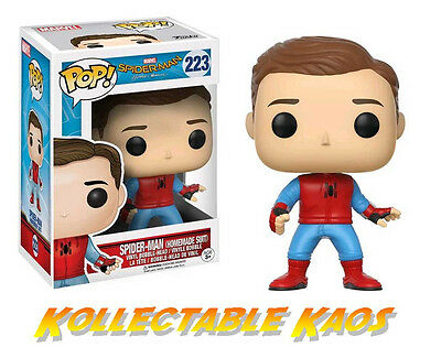 Spider-Man: Homecoming - Spider-Man Homemade Suit Unmasked Pop! Vinyl (RS) #223