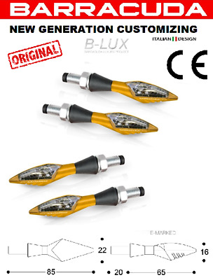 Barracuda Kit 4 Frecce X-LED B-Lux Oro Universali MV AGUSTA