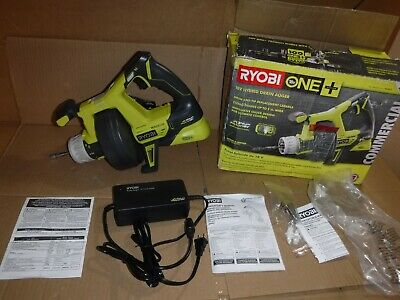 New RYOBI P4002 18-Volt ONE+ Hybrid Drain Auger (Tool Only) With Charger