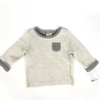 NEW Carters baby Boy Sweatshirt Gray Long Sleeve Size 6 Months