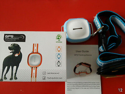 WiFi/GSM/GPS Pet Tracker with collar - Blue  ** Brand New **