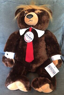 "Donald Trump Trumpy Bear Deluxe Plush 22"" American Flag Blanket Cape New w Tags"