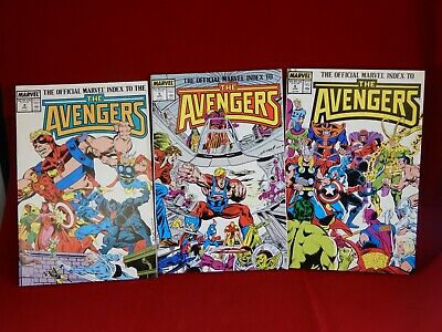 The Official Marvel Index to the Avengers #3,4,5 Total 3 Comics