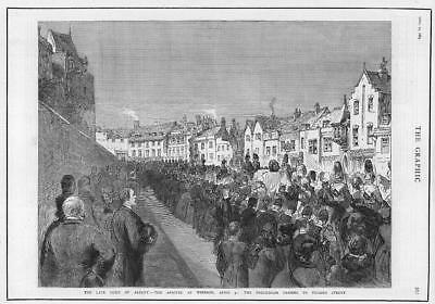 1884  Antique Print - Funeral Windsor Duke Albany Procession Thames Street (205)