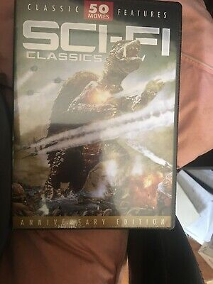 Sci-Fi Classics 50 Movie Pack DVD 12-Disc Set 62 Hours Anniversary Edition New