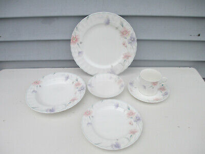 Mikasa Maxima Tremont 6 Piece Dinner Bread Plate Soup Berry Bowl Cup Saucer #3