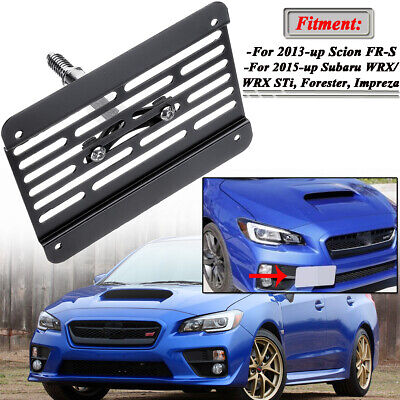 For Subaru WRX STI 2015 - 2019 Front Bumper Tow Hook License Plate Mount
