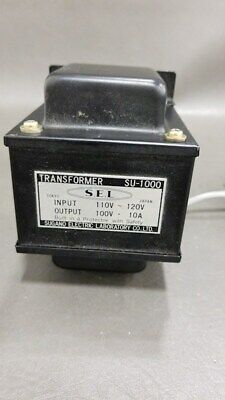 Sugano SU-1000 Step Down Transformer Japan 110v - 120v to 100V Use in USA Canada
