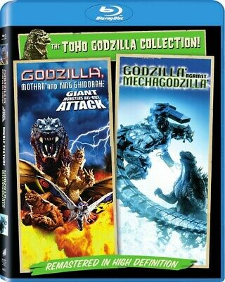 Godzilla, Mothra and King Ghidorah Giant Monsters All Out Attack 2pk Bluray NEW!
