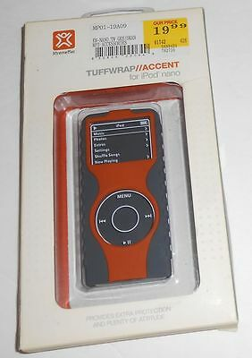Xtrememac Tuffwrap Accent Case For Ipod Nano Gray Orange - New Sealed