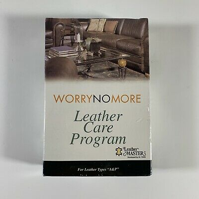 Worry No More Leather Care Program for Leather Types A&P Leather Master Sealed