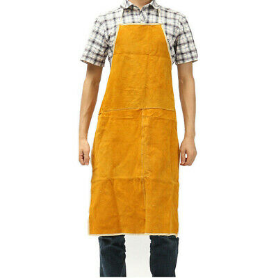 Cow Leather Welding Equipment Welder Heat Insulation Protection Apron 60x90cm