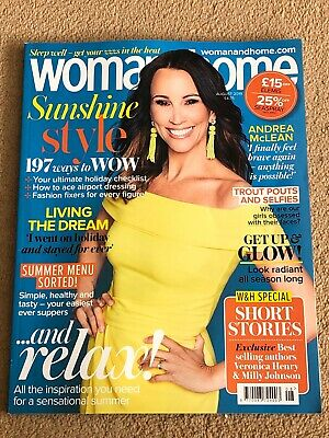 Woman & Home Magazine Full Size August 2019 Andrea McLean *FREE P&P*