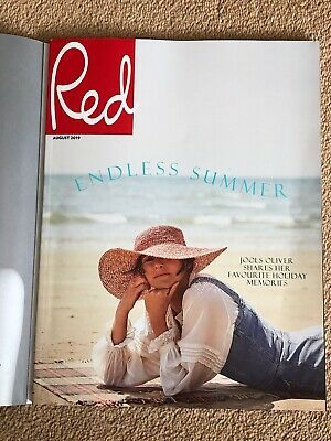 Red Magazine UK August 2019 Aidan Turner Jools Oliver Subscribers Cover FREE P&P