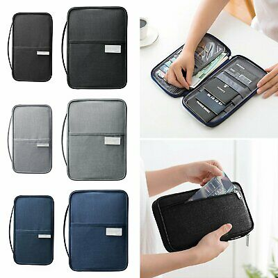 Passport Document Holder Travel Wallet RFID Family Case Waterproof Organizer New