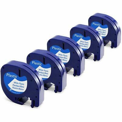 2PK Replace DYMO LetraTag Refills 91331 (S0721660) Plastic Label Tape 12mm x 4m