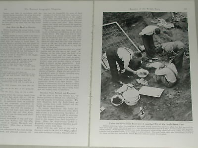 1941 SUTTON HOO magazine article Sutton Hoo ship burial, archeology, Britain