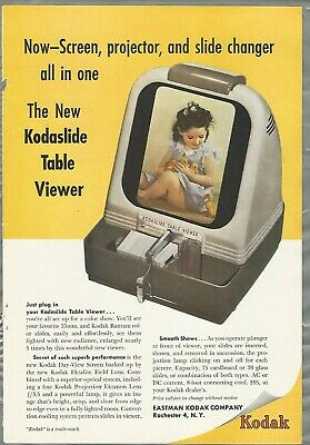1949 KODAK Kodaslide Table Viewer advertisement, Eastman Kodak slide view ad