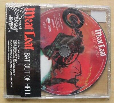 Meat Loaf Bat Out Of Hell(Patch) Cd Single 1993 4 Track Picture Cd With Patch (S
