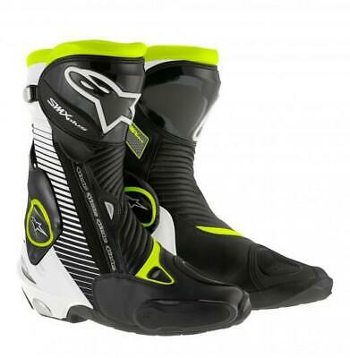 Alpinestars SMX Plus Motorcycle Boots Blk/Wh/Yw (rrp £289.99) **Now £179.99***