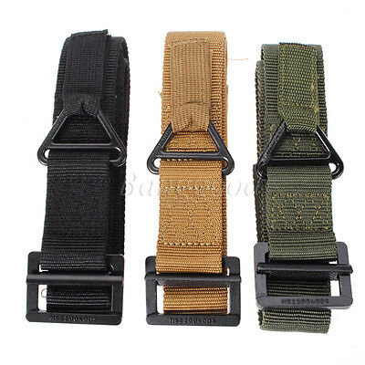 CQB Mens Military Tactical Nylon Waistband Strap Outdoor Sports Canvas Army Belt