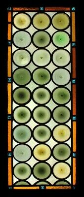 Fantastic French Rondels Beauty With Jewels Antique Stained Glass Window