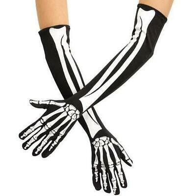Opera Length Skeleton Gloves