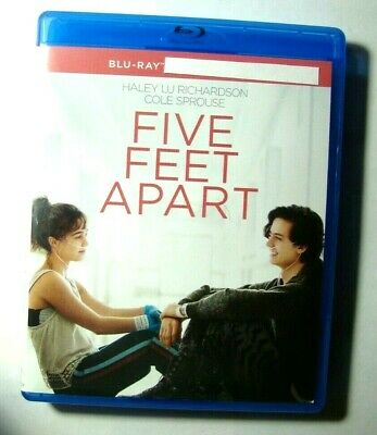 Five Feet Apart : Blu-Ray Movie disc, Blu-Ray Case and artwork Only