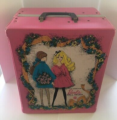 Mattel Pink The World of Barbie DOLL TRUNK For Barbie and Her Friends 1968 #1004