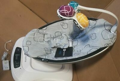 4moms mamaRoo 4 infant seat swing Silver Plush (USED in Retail Box)