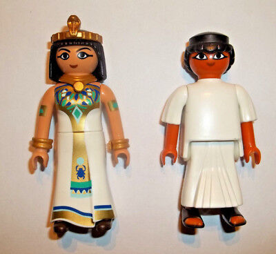 Playmobil,EGYPTIAN QUEEN WITH HIGH PRIESTS//SERVANTS,Cleopatra
