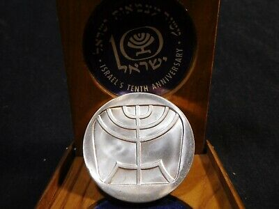 Y198 Israel 1958 Silver 5 Lirot BU in Wooden Holder