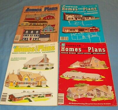 4 Issues Popular Homes & Plans 1980's