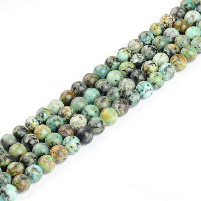 4-12mm Natural African Turquoise Loose Beads Diy Accessories Lots Gemstone Stone