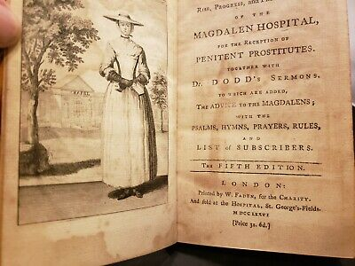 Magdalen Hospital for the Reception of Penitent Prostitutes. Dr Dodd 1776 London