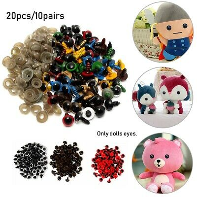 9 Colors Plastic Safety Eyes Crafts DIY Dolls Puppet Accessories with Washer