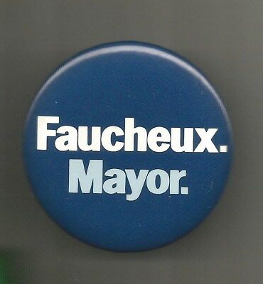 1982 Ron Faucheux for Mayor of New Orleans Louisiana Lost to Morial Button Pin