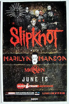 Slipknot / Marilyn Manson / Of Mice & Men 2016 San Diego Concert Tour Poster