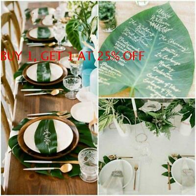 Artificial Leaves DIY Craft Fake Monstera Large Palm Green Plants Summer Party