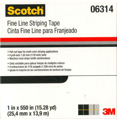 3M 06314 - SCOTCH FINE LINE STRIPING TAPE - 1 ROLL - 25.4mm x 13.9m