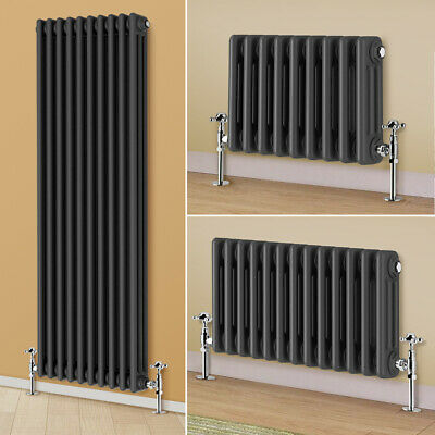 Anthracite Traditional Radiator Vertical Horizontal 3 Column Cast Iron Style Rad